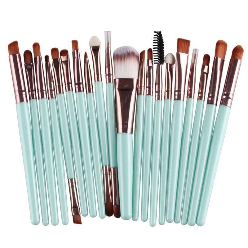 20PCS Make Up Brushes Professional Cosmetic Plastic Handle Basic Eyebrow Eyeshadow Mascara Lip Makeup Brush Set 789(China)