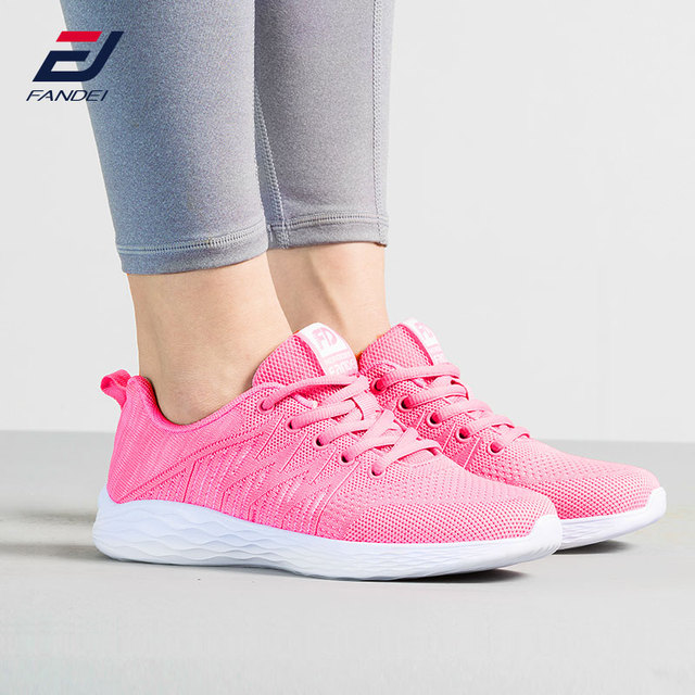48e691074 FANDEI 2018 Spring Pink Running Shoes For Women Breathable Mesh Sport Shoes  Woman Light Outdoor Walking Jogging Sneakers Women