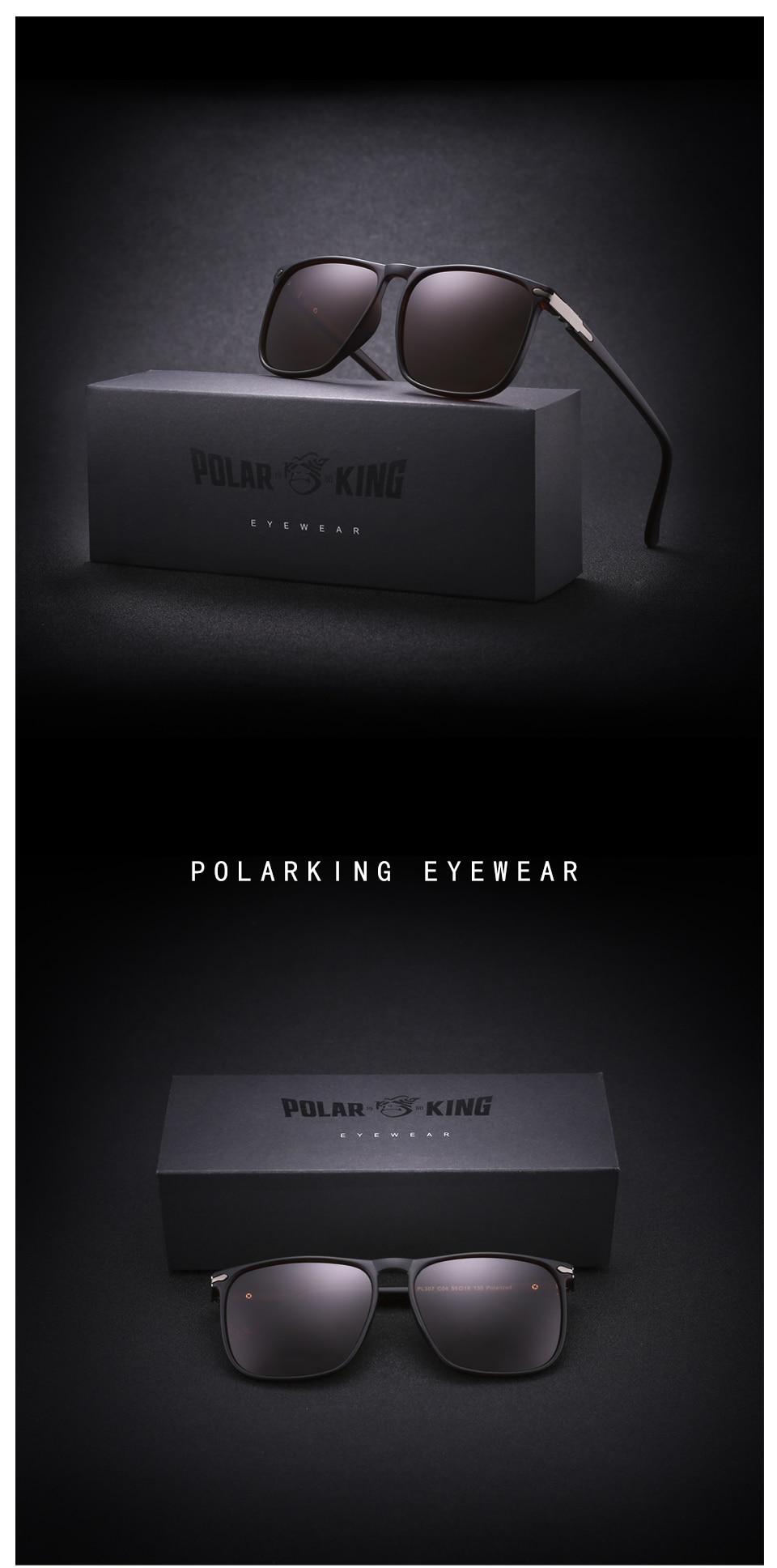 b18fde4b07 POLARKING 307 Square Polarized Sunglasses – Sunglasses for Men