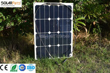 Solarparts 2pcs 30W semi flexible solar panel 12V solar cell system DIY kits RV marine camping