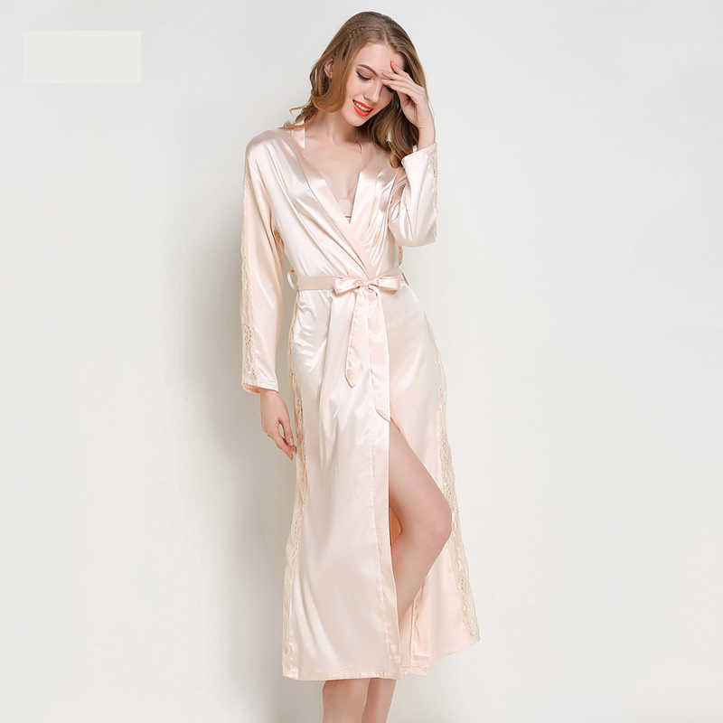 cf9f770c81 yomrzl A464 New arrival spring and autumn women s robe long sleeve one  piece home clothes solid