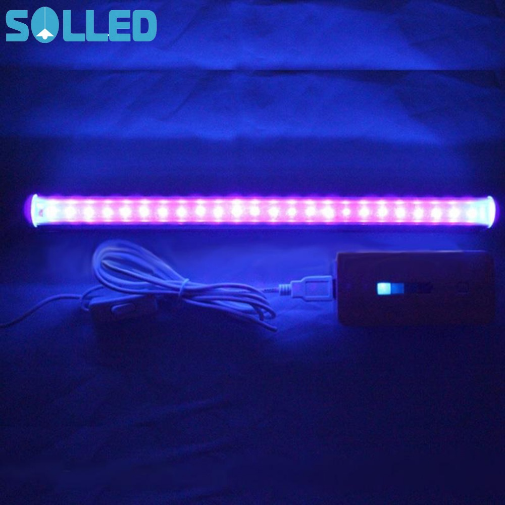 SOLLED 2017 NEW Portable 24 LED Germicidal Ultraviolet Lamp UV Light Bar for Bathroom Kitchen Toilet 50pcs new uv germicidal sanitizer replacement bulb for philips sonicare hx6150 hx6160 hx7990 hx6972 hx6011 hx6711 hx6932 hx6921