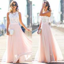 New arrival womens boho sleeveless maxi dress party dresses