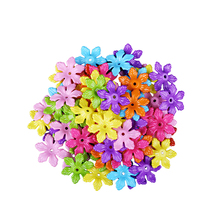 Wholesale 60pcs Mixed Bright Colors Acrylic Loose Spacer Beads Plastic Big Hole Flower Shape Beads 5*28MM