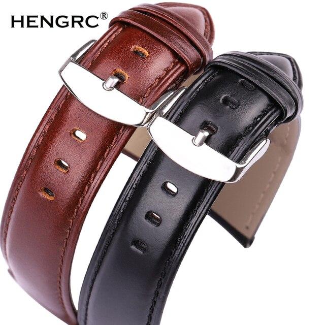 Black Brown Watchbands 18mm 19mm 20mm 21mm 22mm 24mm High Quality Smooth Watch B