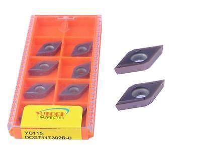 10 STK YUTOOLS carbide insert DCGT11T302R CNC Turning lathe inserts New  цены