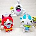 3pcs/lot 20cm Anime Yokai Watch Plush Toys JP Yo-kai Watch Jibanyan Komasan Whisper Figure Toys Stuffed Dolls For Girl & Boy