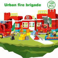 Puzzle Block Toys City Fire brigade 109 Large particles Boy Girl Favorite Education Gift Creative Gift