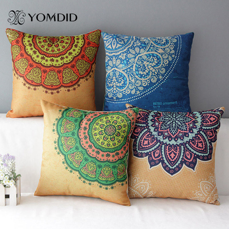 Mediterranean Cushion Cover Colorful Decorative Pillow Striped Throw Pillow  Ethnic Cojine Housse De Coussin Almofada Decorative