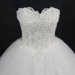 QQ Lover 2019 Elegant Luxury Lace Wedding Dress Vintage Plus Size Ball Gowns Vestido De Noiva 4
