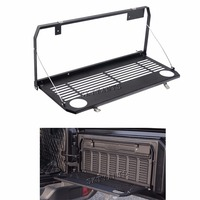 Foldable Rear Door Tailgate Table Fits Rear Door Table Storage Cargo Shelf for 2018 2019 Jeep Wrangler JL 2/4 Door Accessories