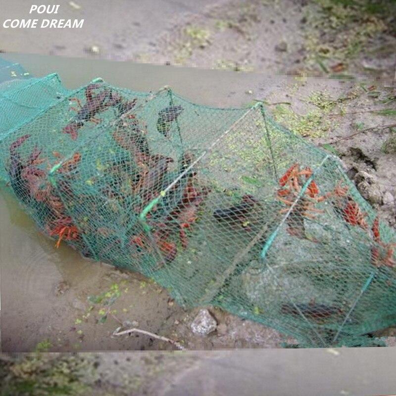 10 m 33 sections 20 cage de pêche d'entrée cage au sol pesca filet de pêche chine piège à homard piège à crabe cage à poisson outil de cage à crabe