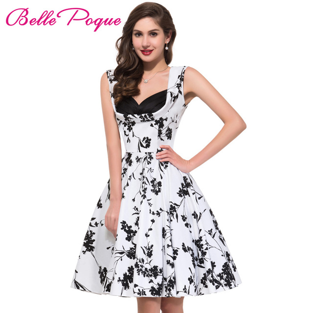 efead0bbfd781 US $23.77 49% OFF|50s 60s Rockabilly Dresses 2017 Summer Style Retro  Vintage Swing Pinup Vestidos Women Party Audrey Hepburn Dress Robe De  Soiree-in ...