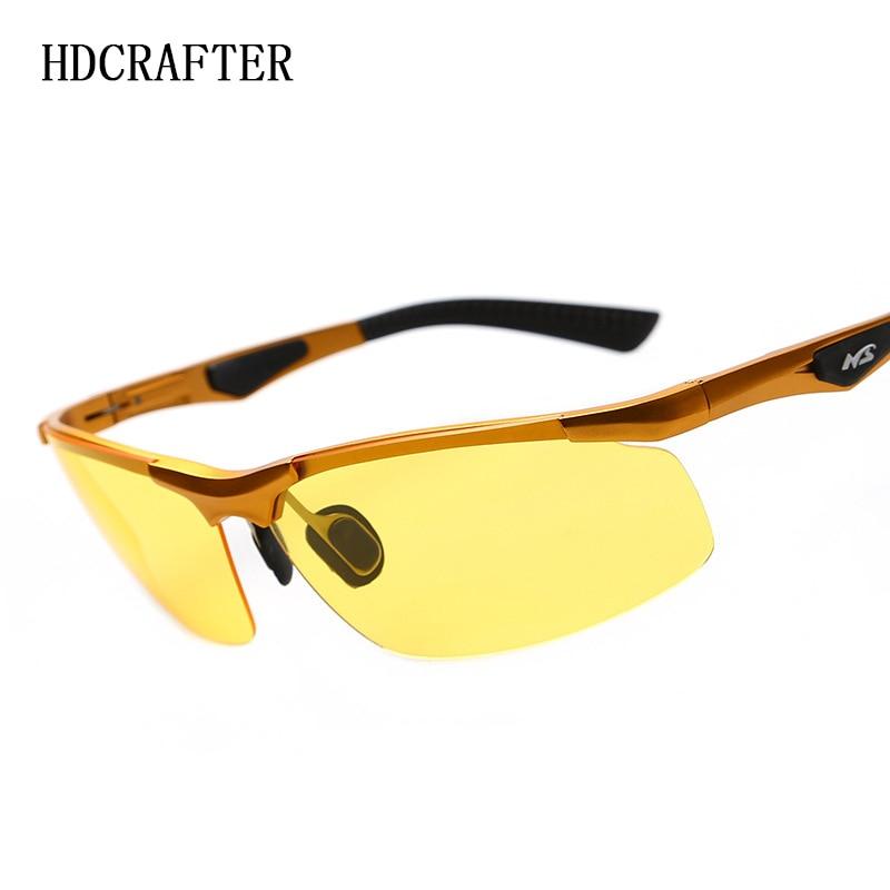 71523bcf91 HDCRAFTER Men Polarized Night Vision Sunglasses Aluminum .