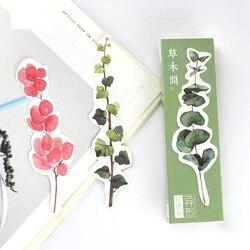30 pçs grama & folha bookmark clipe de papel marcadores para marcador de livro artigos de papelaria acessórios de escritório material escolar marcalibros 6675
