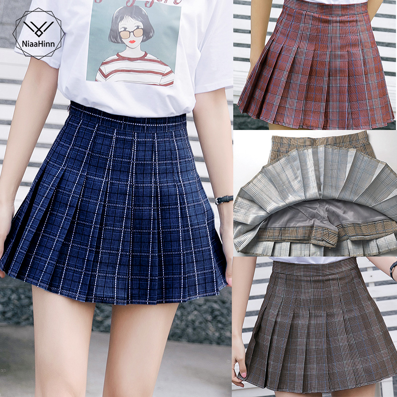 New XS-3XL Harajuku Mini Cute Skirt Women Fashion Summer High Waist Plaid Pleated Skirt Cosplay Plaid Skirt Kawaii Female Skirts