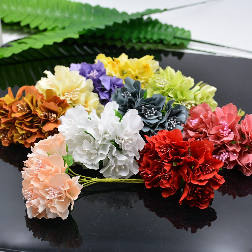 Wholesale 60pcs 4cm Silk Chrysanthemum Bride Artificial Flowers For