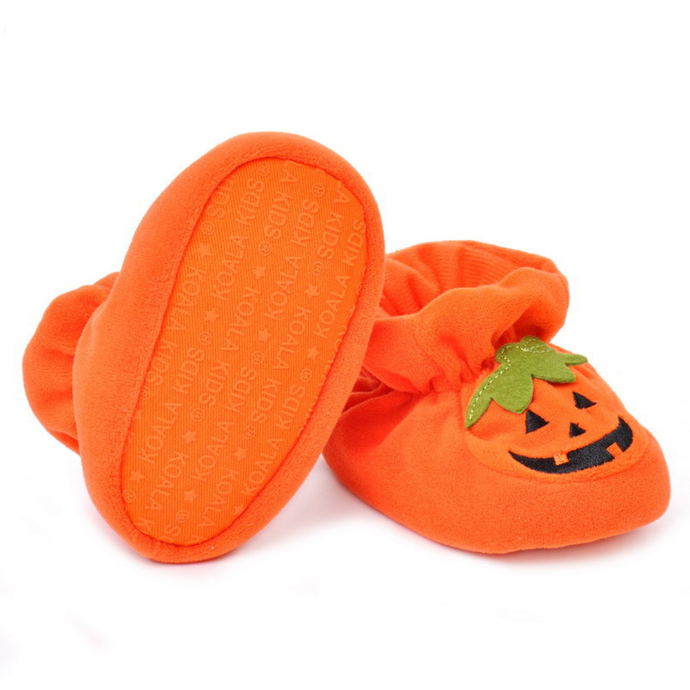 Baby Boys Girls Shoes Cute Pumpkin Baby Boy Crib shoes Infant Winter Warm Cotton Toddler Sneakers Newborn Halloween Present Gift