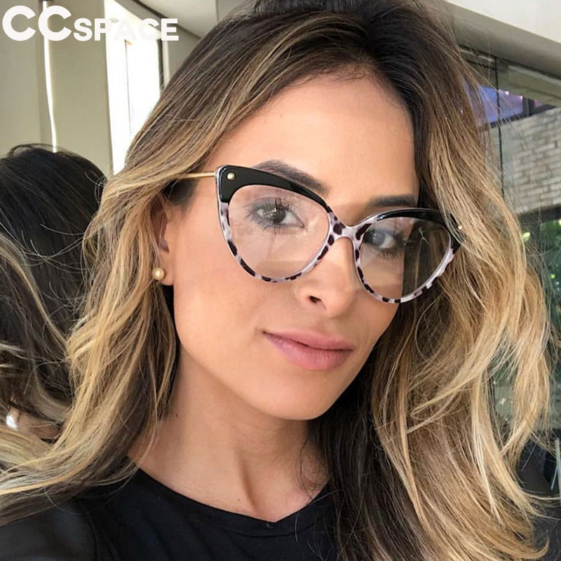 Cat Eye Glasses Frames Women Trending Styles Brand Eyeglasses TR90 Optical Fashion Computer Glasses 45639