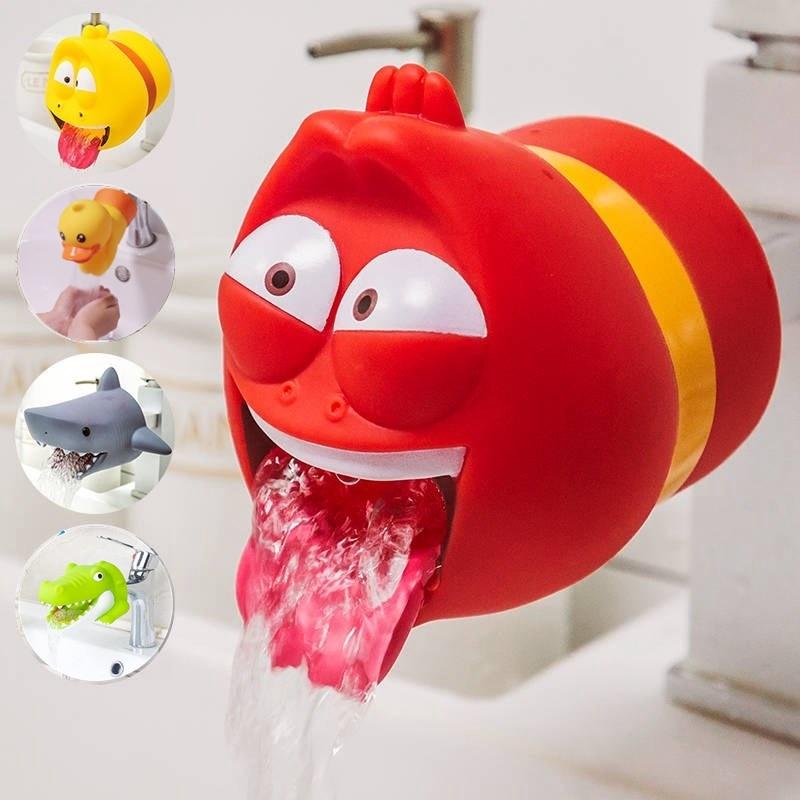Cute Animal Faucet Extender Water Saving Cartoon Faucet Extension Tool Help Children Washing Hands Bathroom Kitchen Tool