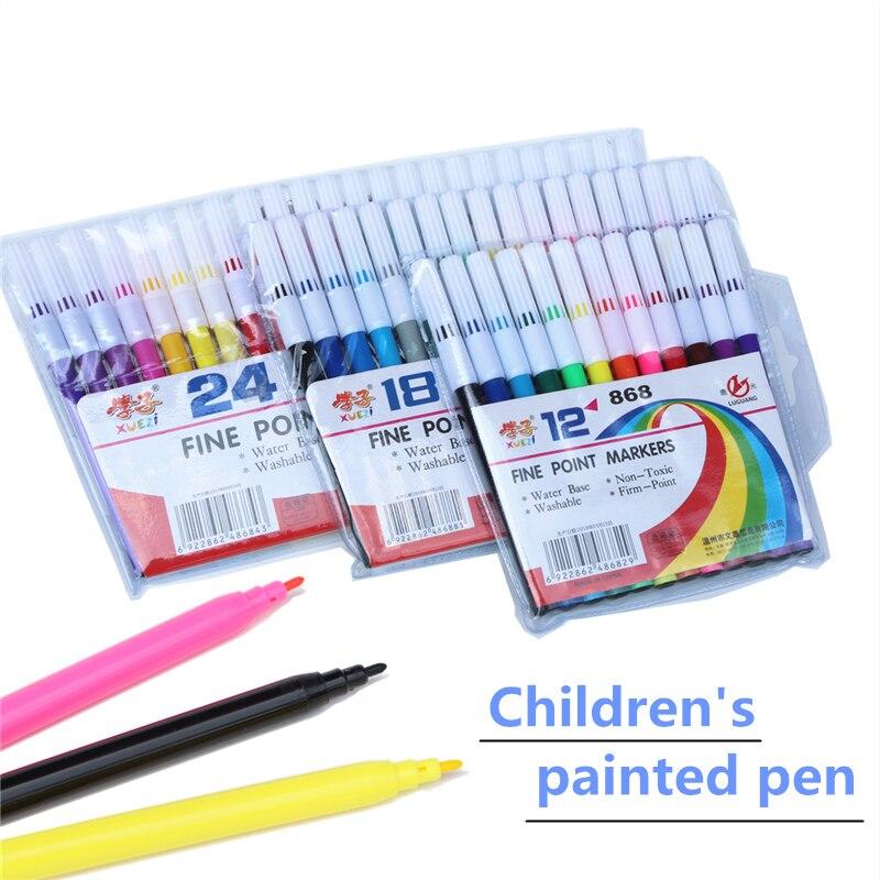Школьные детские высококачественные цветные ручки, художественные маркеры, акварельные ручки, набор кистей для рисования, цветные маркеры,...