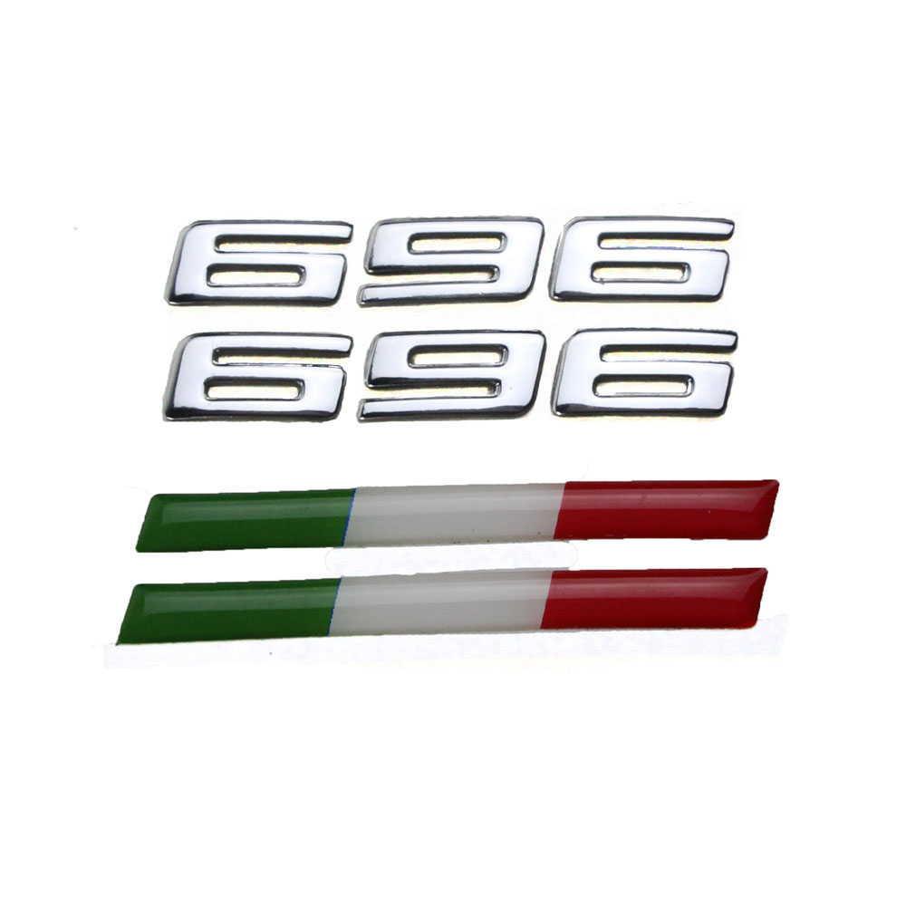 KODASKIN Motorcycle 3D Stickers Emblem Mix Raised 696 Decals For Ducati 696 Monster 696 One Set
