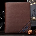 New 2015 Men Wallets Famous Brands Mens Wallet Male Money Purses Soft ID Card Case New Classic Soild Pattern Designer Wallet