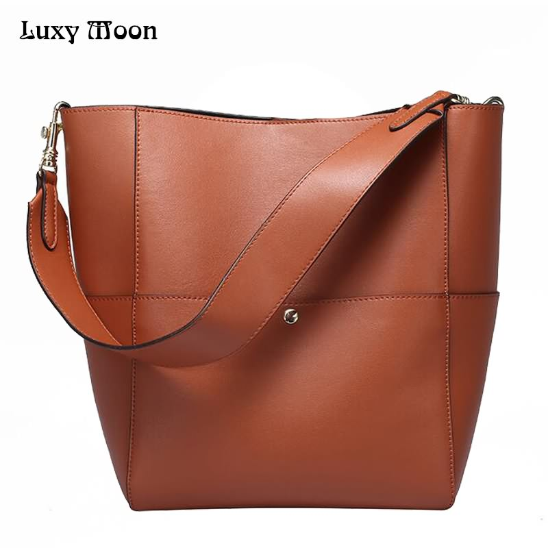 Luxy Moon Women Bag Genuine Leather Composite Bag Women's Handbag Fashion Casual Cowhide Larger Tote Female Shoulder Bag  ZD705 luxury genuine leather bag fashion brand designer women handbag cowhide leather shoulder composite bag casual totes
