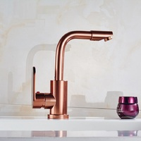 Space Aluminum Rose Gold Kitchen Faucet Sink Faucet Sink Hot Cold Water Mixer Kitchen Tap Torneira Cozinha