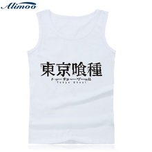 Alimoo Tokyo Ghoul Anime Tank Top Men Fitness with Cartoon Print Summer Vest Bodybuilding Shirt