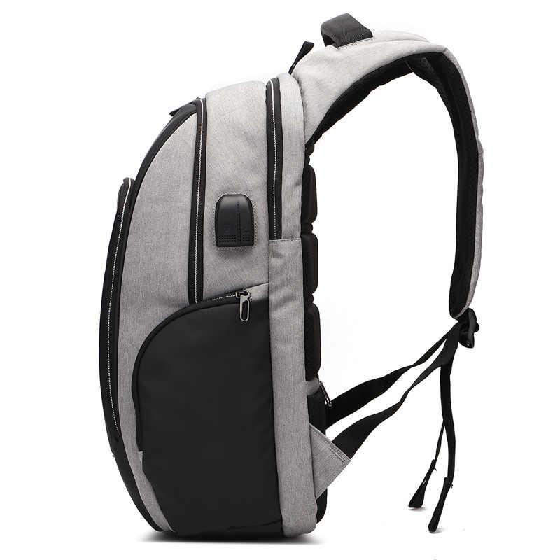 Новый анти-вор модный мужской рюкзак Многофункциональный Водонепроницаемый 15,6 дюймов Сумка для ноутбука Мужская зарядка через usb дорожные рюкзаки Mochila