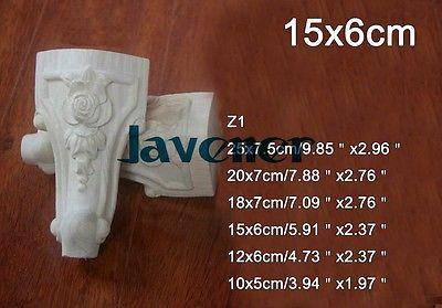 Z1 -15x6cm Wood Carved Onlay Applique Carpenter Decal Wood Working Carpenter Leg Cabinet
