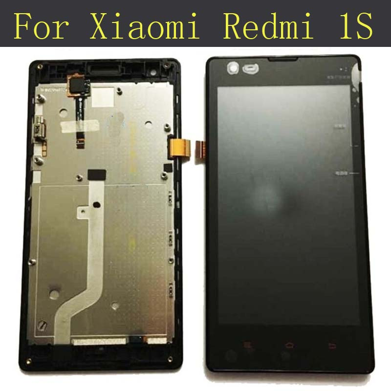 For Xiaomi Redmi 1S/Red Rice 1S LCD Display+Touch Screen Panel With Frame
