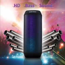 Portable LED Wireless Bluetooth Speaker  Colorful Light Visual Display Mode Powerful Sound