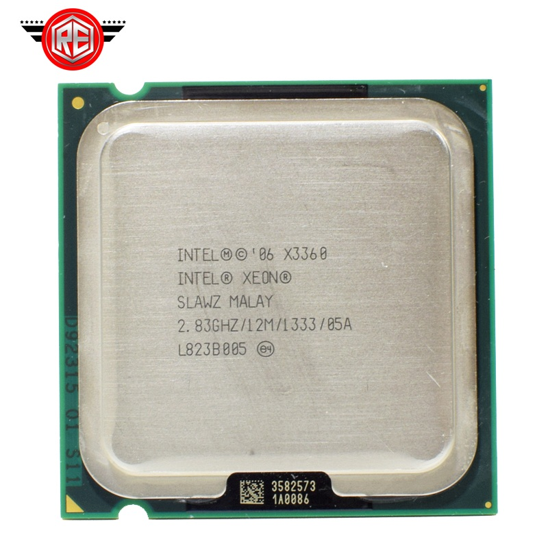 Prix pour Intel Xeon X3360 SLAWZ SLB8X Processeur 2.83 GHz 12 M Cache Quad Core LGA 775 TDP 95 W Serveur CPU