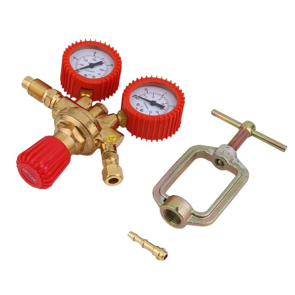 Shockproof Acetylene Pressure Reducing Regulator 0-40 Bar Acetylene Pressure Gauge Regulator Portable Gas Meter цена
