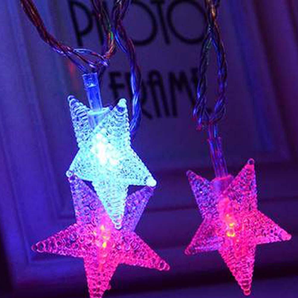 5M 100-240V 28 LED string lights  Lights  Pentagram  LEDs  for  Party Wedding Decoration Christmas Flasher Fairy Lights