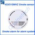 315 МГЦ/433 МГЦ беспроводной датчик дыма, 1527/2262 детектор дыма, датчик пожарной сигнализации для Дома безопасности GSM PSTN сигнализация