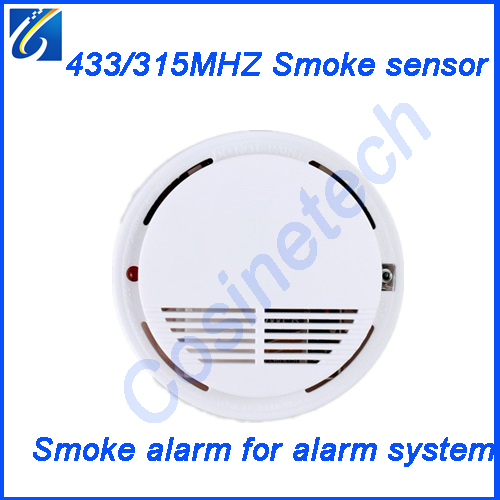 315MHZ/433MHZ wireless smoke sensor,1527/2262 smoke detector,fire alarm sensor for Home security GSM PSTN alarm system 433mhz wireless gas detector sensitive combustible co gas detector fire alarm sensor for wireless gsm pstn home security