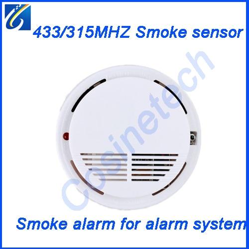 315MHZ/433MHZ Wireless Smoke Sensor,1527/2262 Smoke Detector,fire Alarm Sensor For Home Security GSM PSTN Alarm System