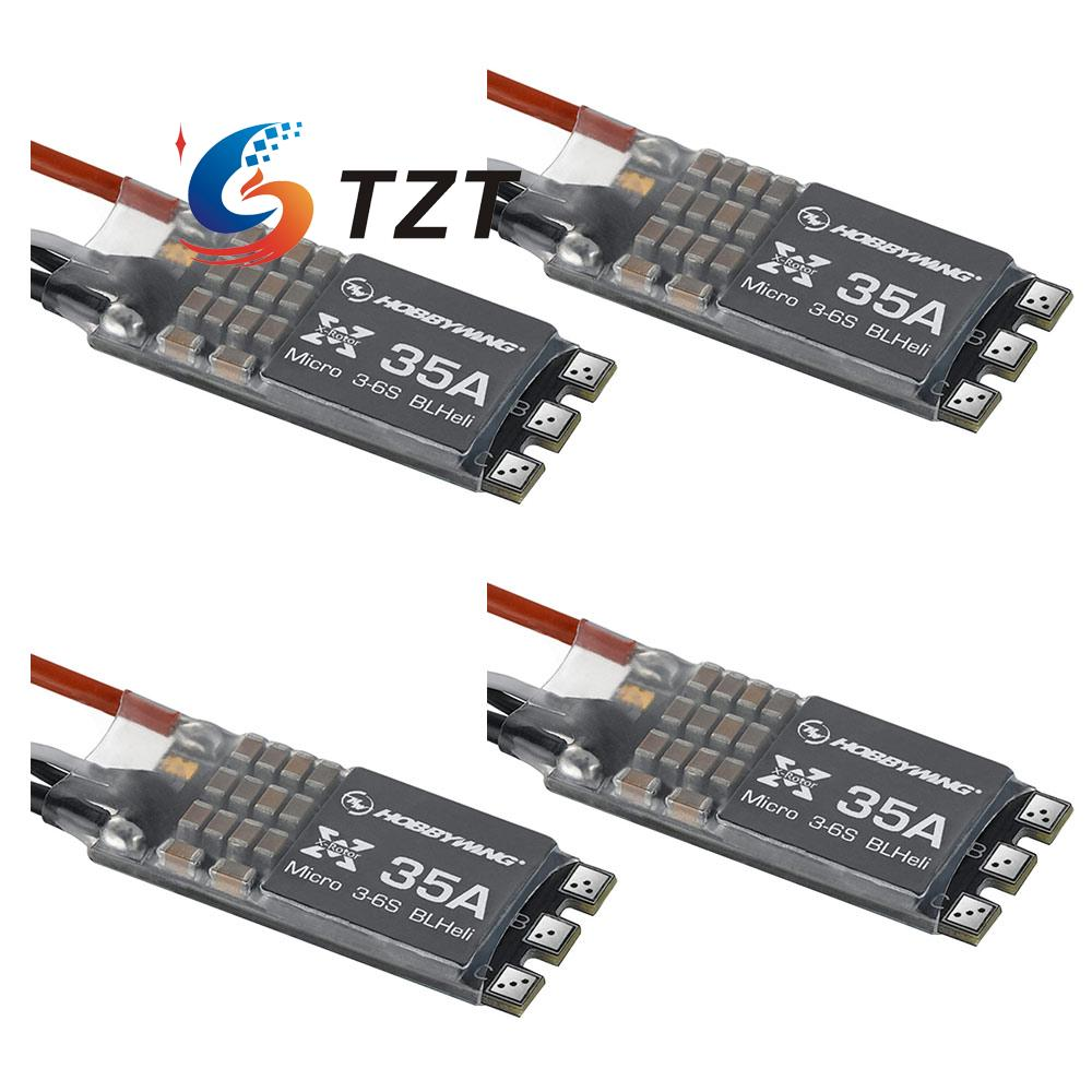 XRotor Micro BLHeli 35A 3-6S ESC Electronic Speed Controller for FPV Quadcopter Drone 4-Pack xrotor micro blheli 30a 2 4s esc electronic speed controller for hobbywing original rc helicopter accessories