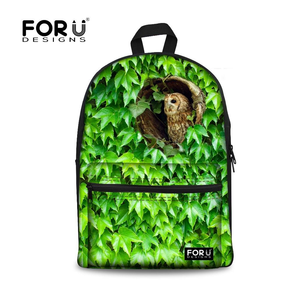 Fashion Children School Bags Infantil Bolsas for Girls Kid Schoolbags Animal Owl Print Children Bookbag Teenage Casual Mochila