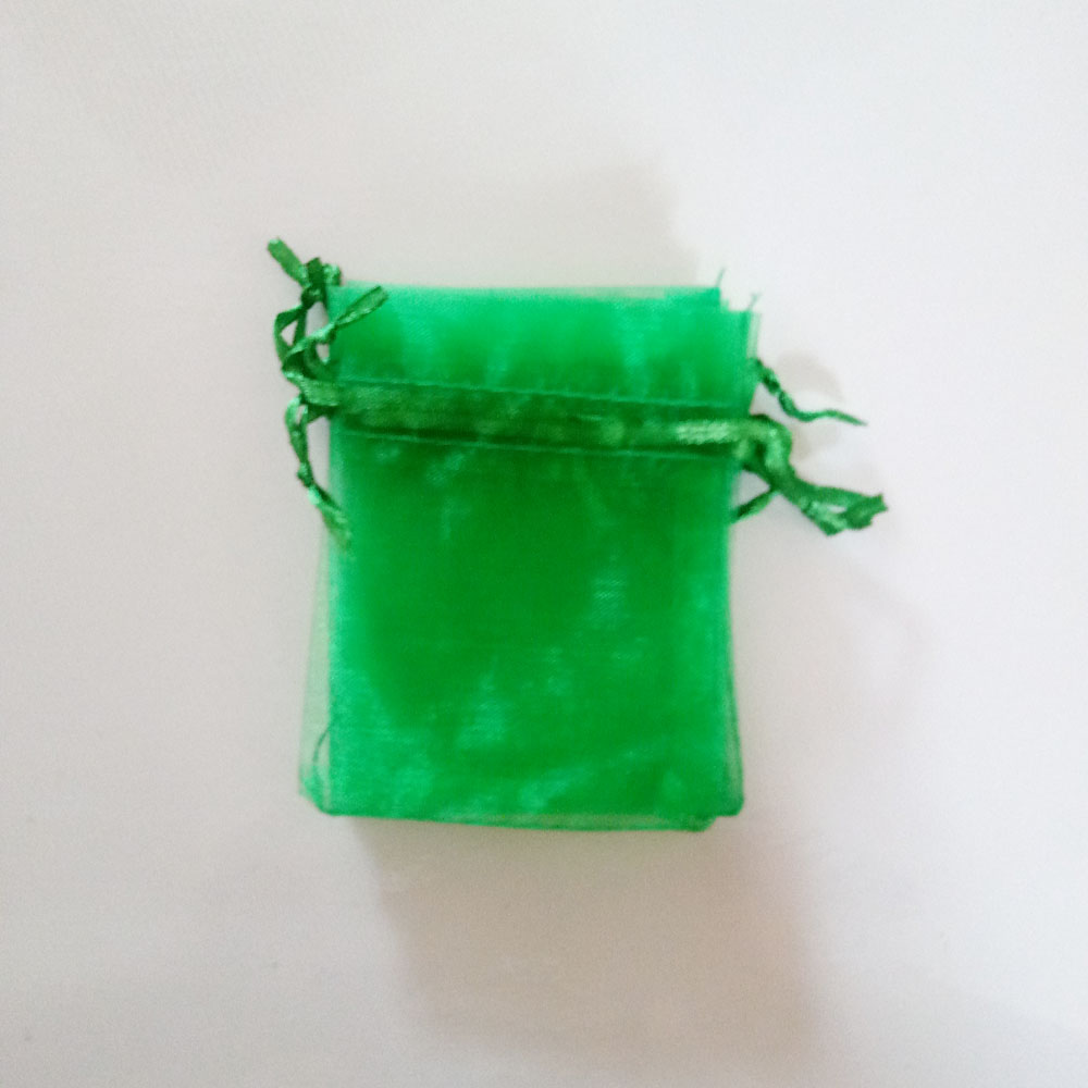 100pcs Green Gift Bags For Jewelry Bags And Packaging Organza Bag Drawstring Bag Wedding/woman Travel Storage Display Pouches