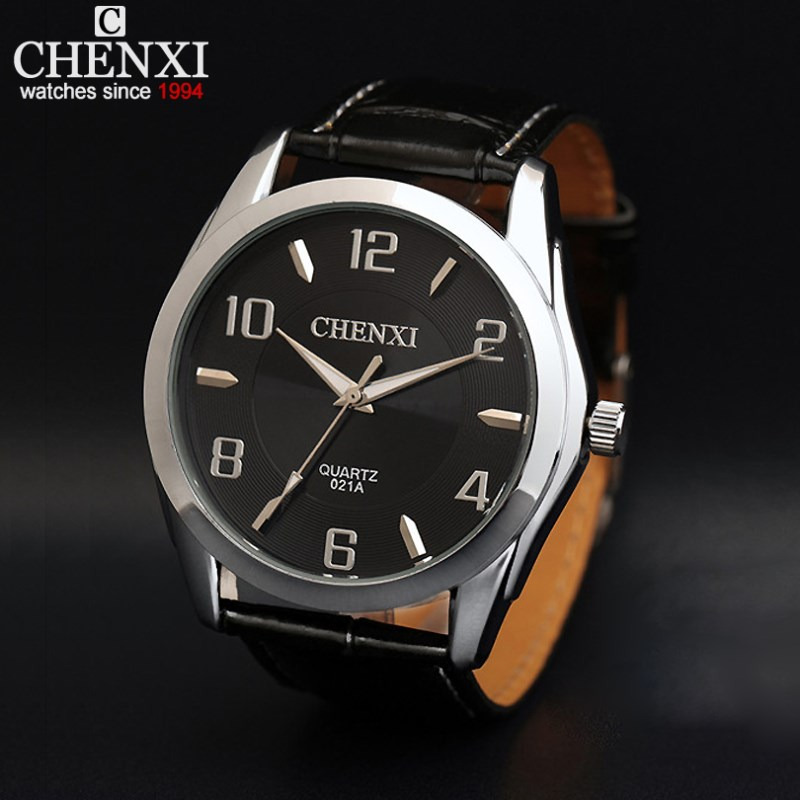 CHENXI Mens Watches Life Waterproof Leather Strap Bracelet Quartz Sport Watch Business Male Clock Hot Sale Wristwatch NATATE men watch top fashion brand male real leather strap large dial waterproof clock business lens watches hot sale
