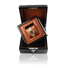 Роскошная деловая/Подарочная деревянная коробка для часов в коробке с ключом деревянная искусственная кожа внутренняя рекламная коробка бизнес коробка для брендовых часов на заказ