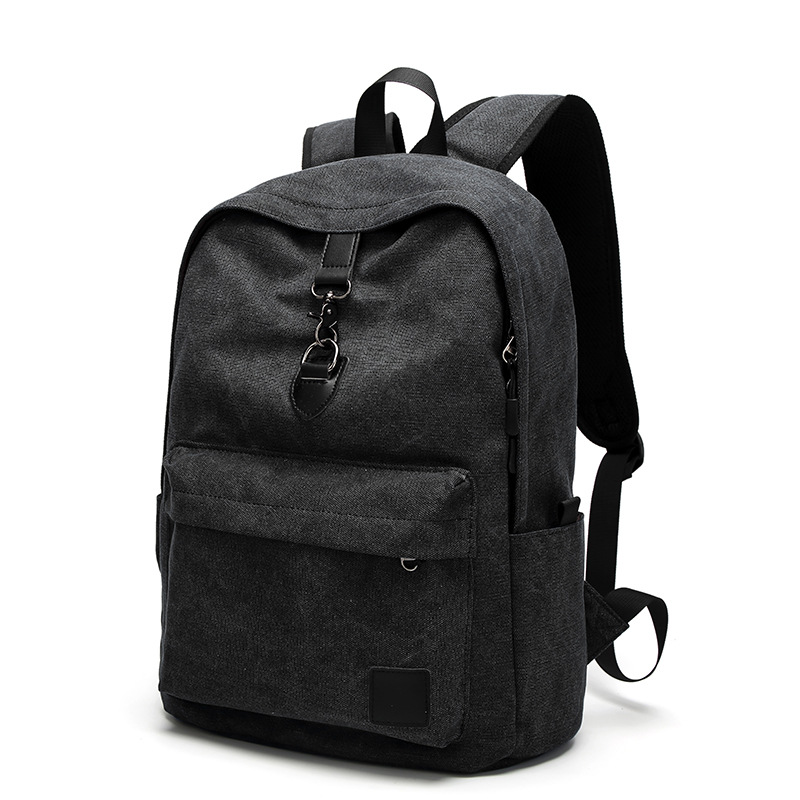 YUFANG Canvas Man School Backpack Casual Teenager Boy Laptop Bag Pure  Cotton Men Travel Backpack Leisure All match Daypack -in Backpacks from  Luggage   Bags ... 5d1c1cd639406