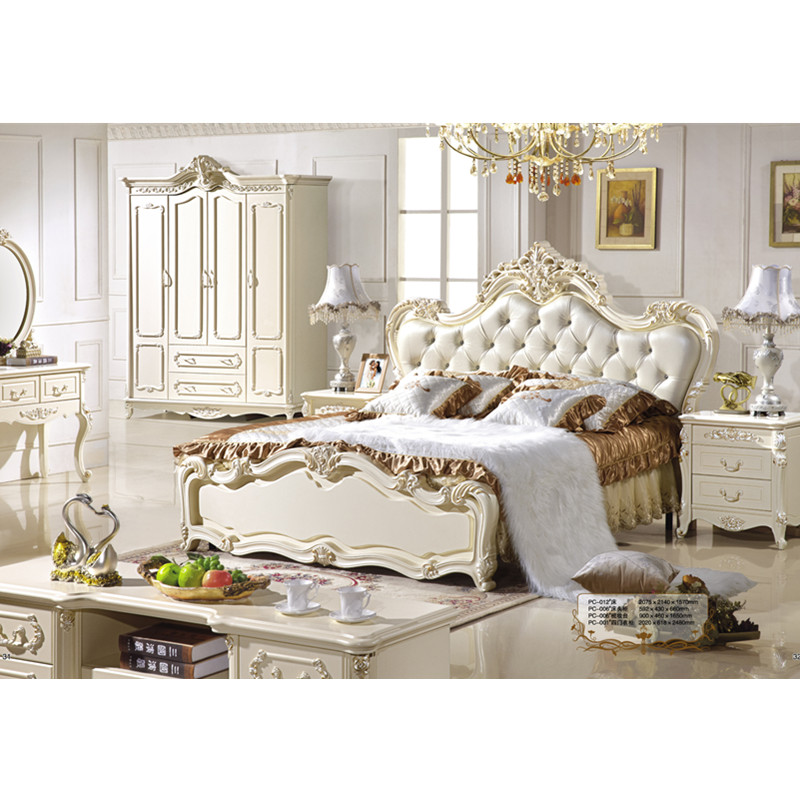 US $1599.0 |Luxury Beds French Style upholstered Bed French Bedroom  Furniture Set Manufacturer and Supplier-in Bedroom Sets from Furniture on  ...