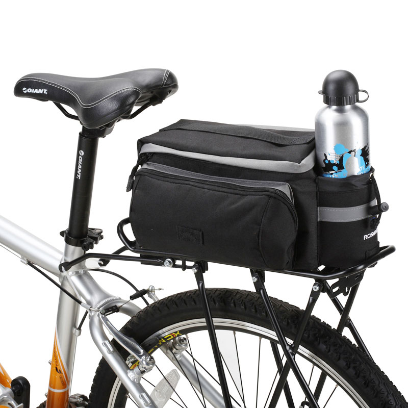 New Multifunctional ROSWHEEL Mountain Bike Saddle Basket Bicycle Rear Rack Bag Becicle Bicycle Pack Trunk Pannier Bycicle Bag free shipping 2015 new komine bag motorcycle rear trunk bag pack qr hump bag
