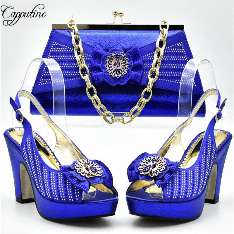 Italien or Style Royal Ensemble Mariage Df Sac Pour Sympa Assorties Blue pourpre À Africain Robe Capputine De fuchsia Chaussures Et Assortir rouge 011 Le Pêche Dames B58wqpq