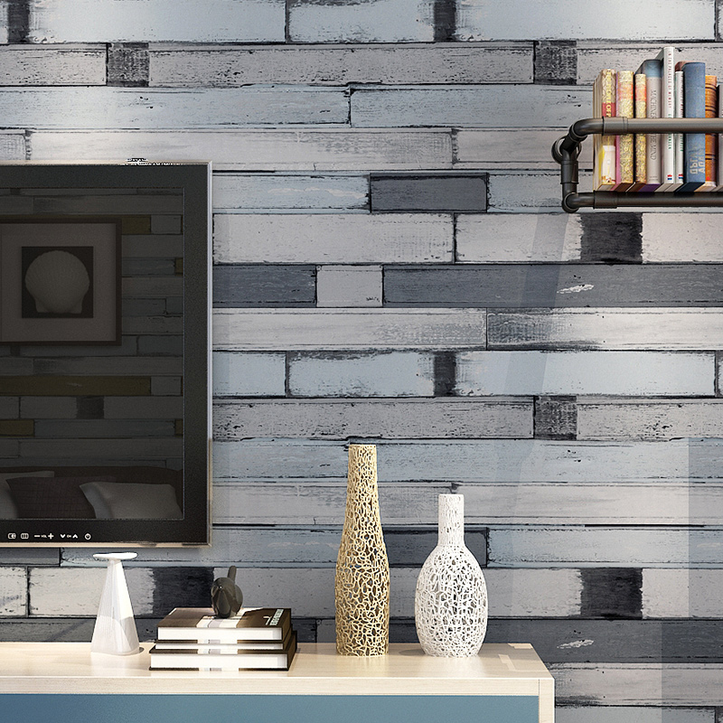 beibehang -style wooden blue vertical stripes wallpaper for walls 3 d wall paper roll papel de parede para sala papel pintado beibehang exquisite wallpaper for walls 3 d vintage stencilling geometry plaid wall paper roll for tv background papel de parede